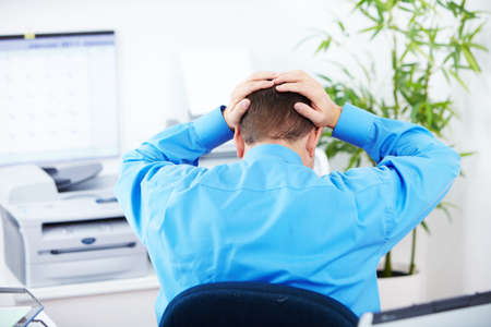 businessman  having stress in the office Stock Photo - 8170909
