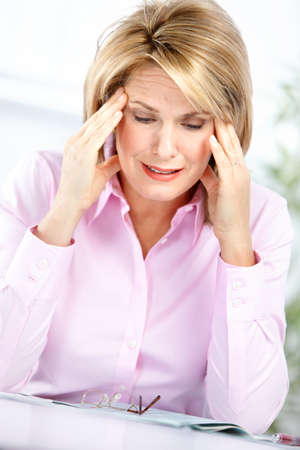 business woman  having stress in the office Stock Photo - 8255768