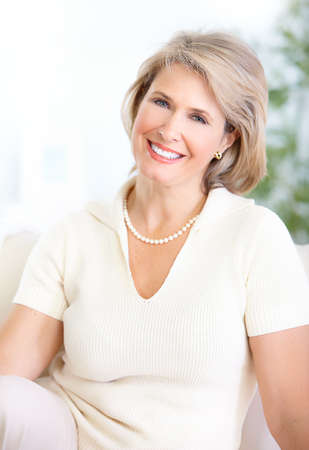 old people: Happy mature woman with great smile  Stock Photo