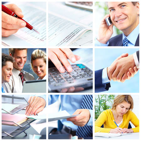 Business  people.  Businessmen and business women Stock Photo - 8459526