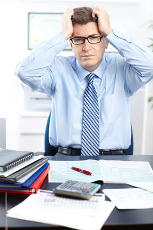 businessman  having stress in the office Stock Photo - 8459575