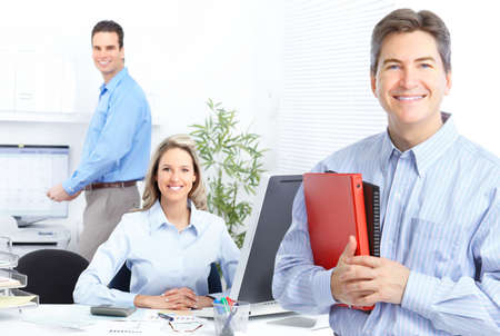 business people team working in the office Stock Photo - 12137542
