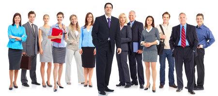 비즈니스 사람들의 그룹입니다. 비즈니스 팀입니다. 흰색 배경 위에 절연