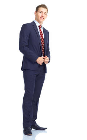 Young smiling  businessman. Isolated over white background  Stok Fotoğraf