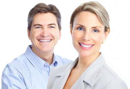 Faces of smiling people. Teeth care. Smile Stock Photo - 8736163