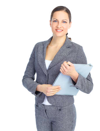 Smiling business woman. Isolated over white background Stock Photo - 8736319