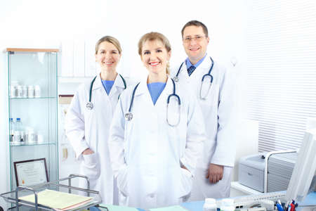 Medical doctors working in the office  photo