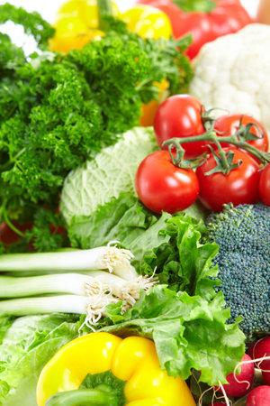 Vegetables and fruits. Apple, orange,  plum, lemon, watermelon, pear  Stock Photo - 8856896