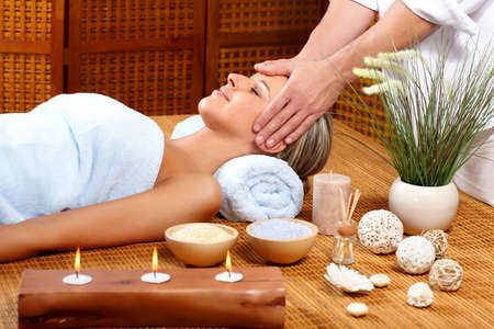 Beautiful young woman getting a massage Stock Photo - 8863841