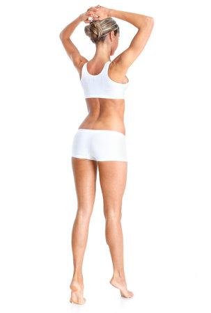 Female body. Isolated over white background  photo