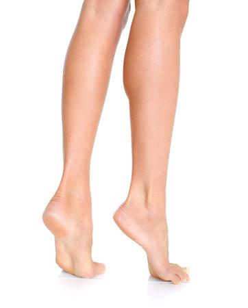 Female feet. Isolated over white background 版權商用圖片 - 8863685