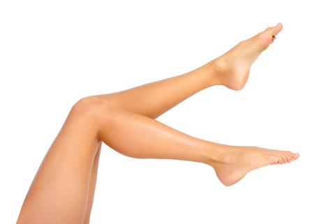 Female feet. Isolated over white background Stock Photo - 8863663