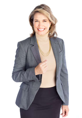 Smiling business woman. Isolated over white background Stock Photo - 8863825