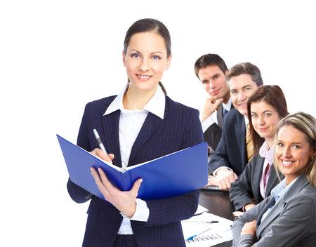 Business people équipe travaille au Bureau Banque d'images - 8863783