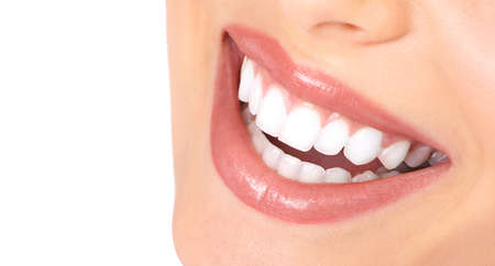 Healthy woman teeth and smile. Close up. Stock Photo - 8863898
