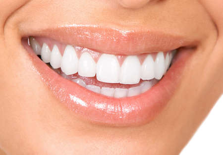 teeth white: Healthy woman teeth and smile. Close up.
