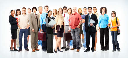 group study: Group of business people. Business team.   Stock Photo