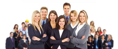 � teamwork: Gruppo di uomini d'affari. Business team. Isolato su sfondo bianco