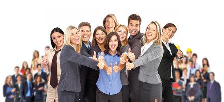 grupo de personas: Grupo de gente de negocios. Equipo de negocios. Aislados sobre fondo blanco