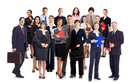 Group of business people. Business team. Isolated over white background Stock Photo - 8863917