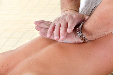 Massage of male back