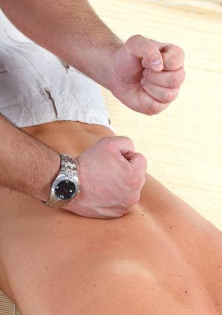 male parts: Massage of male back