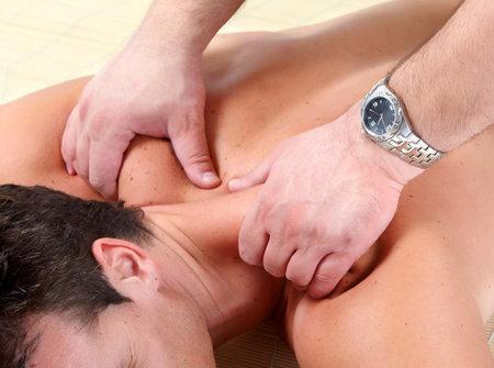 masseur: Massage of male back