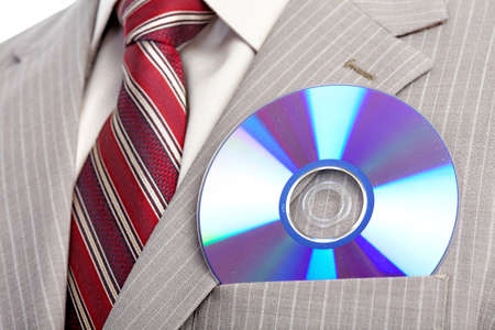 businessman with cd. Close up  photo