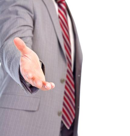 A hand of a businessman