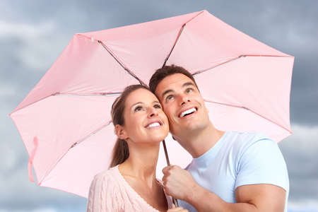 couple under umbrella Stock Photo - 8950428
