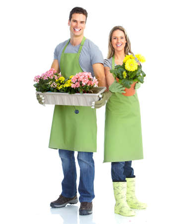 florists: Gardening Stock Photo