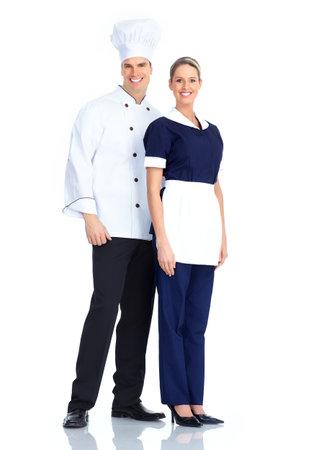 chef uniform: Chef and waitress