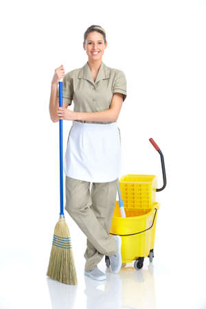 cleaning service: housewife Stock Photo