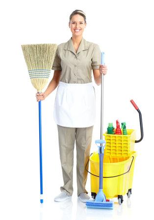 limpieza del hogar: ama de casa Foto de archivo