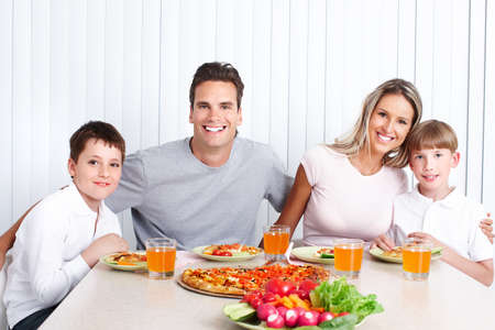 grand parents: Family dinner Stock Photo