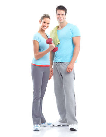 fitness couple: Fitness and gym.