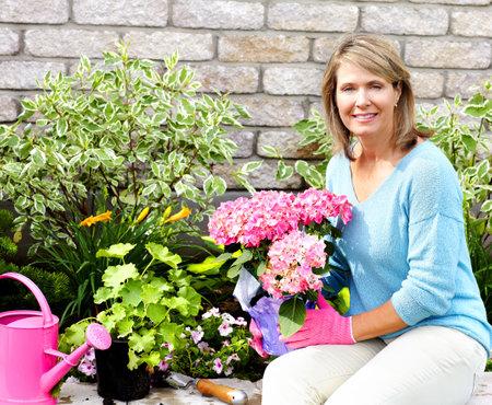 woman gardening Stock Photo - 8950705