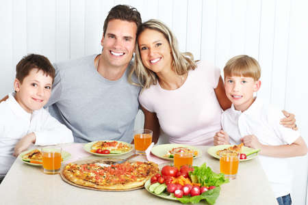 large family: Family dinner Stock Photo