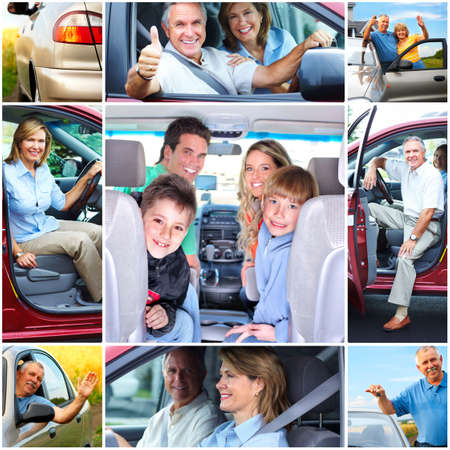 Senior couple in the car Stock Photo - 8950702