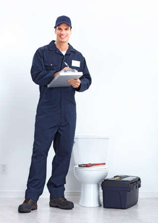 repairmen: plumber  Stock Photo
