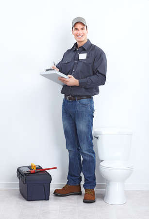 maintenance man: plumber  Stock Photo