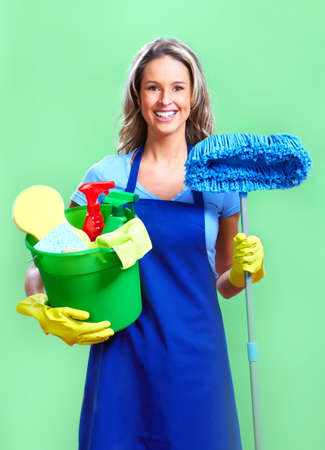 messy: housewife Stock Photo