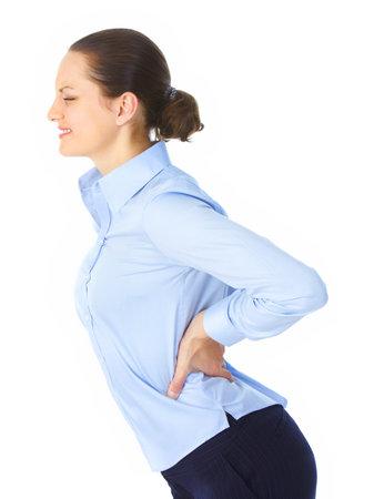 back ache: Sick woman Stock Photo