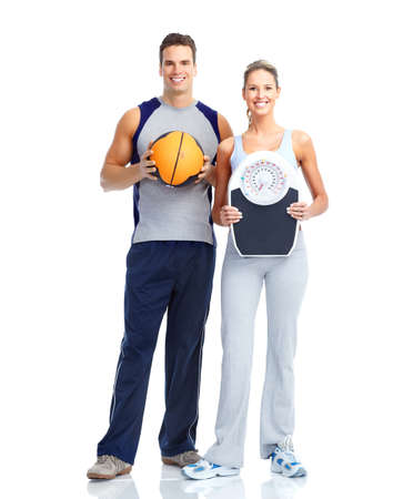 home trainer: Fitness people