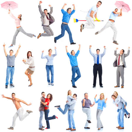 Happy people Standard-Bild