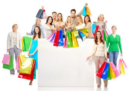 chicas de compras: Personas de compras