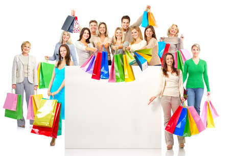 happy shopper: Shopping people