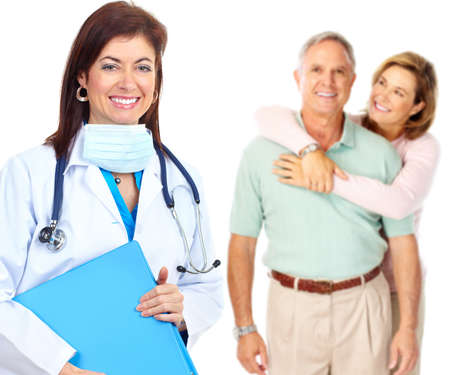 doctor and elderly couple Stock Photo - 9051051