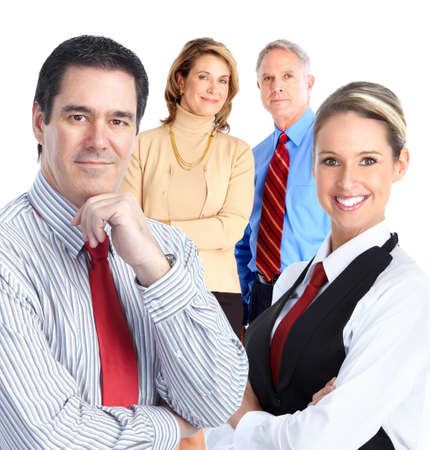Business people team.  Isolated over white background. Stock Photo - 9104677
