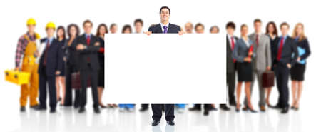 large: Business peole team. Stock Photo